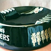 SALE HUGE Seagram's 100 Pipers Advertising Ashtray