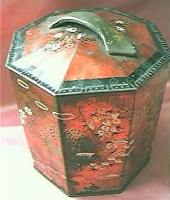 Lovely Victorian Peek, Frean & Co.  Oriental Design Octagonal Tea Tin