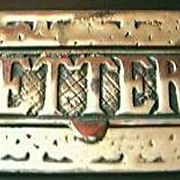 Large Vintage Cast Brass Letter Slot