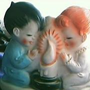 "Cute 1950's Kiddies ""Praying"" Night Lamp"