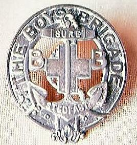 "Vintage Boys Brigade Badge "" Sure - Stedfast"""