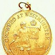 "Edwardian Medalet ""Our Gracious King & Queen"" 1902"