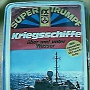 1980's  Super Triumpf Set Of Warships Cards