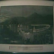"Magnificent Large Victorian Lithograph ""Departure of Her Majesty For Holyrood"" 1861"""