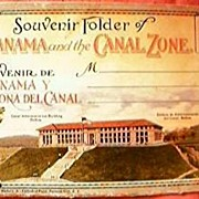 Panama & The Canal Zone Souvenir Folder Circa 1930's