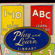 1938 Sam'l Gabriel Play & Learn Library Activity Set