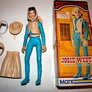 1960s Marx Josie West Doll, Box & Accessories