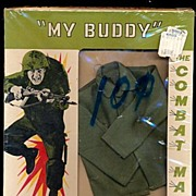 "1960s Totsy 'My Buddy' GI Joe 12"" Outfit Mint in Pckg"