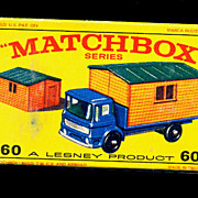 1960s Matchbox No 60 Truck with Site Office in Box