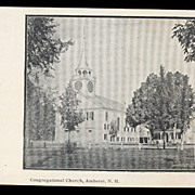 Amherst, NH, Congregational Church 1905 Postcard