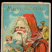 Santa Claus in Robe /Father Christmas 1912 Postcard
