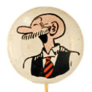 1945 Kelloggs Andy Gump PEP Pinback