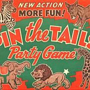 "1930s ""Pin the Tails"" Party Game - Paper  Book"