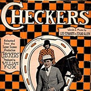 "1919 ""Checkers"" Horse Film Music Score Sheet Music"