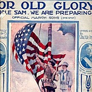 "SOLD 1916 ""For Old Glory"" Patriotic Sheet Music"