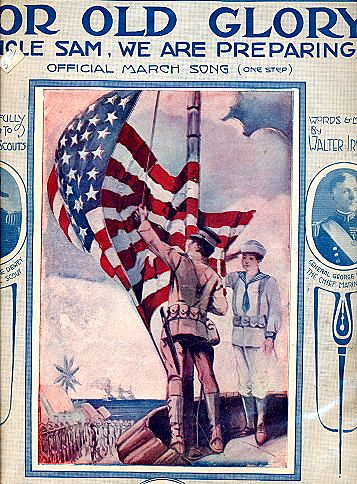 "1916 ""For Old Glory"" Patriotic Sheet Music"