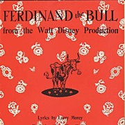1938 FERDINAND the BULL Walt Disney Sheet Music