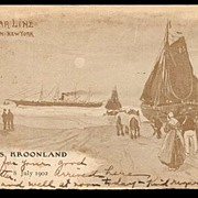 Red Star Line 1902 S.S. Kroonland Ship Postcard