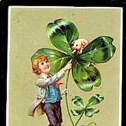 1906 Tucks St. Patricks Day Boy Postcard