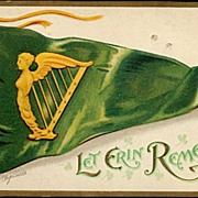 Ellen Clapsaddle St. Patrick�s Day Flag Postcard