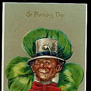1907 Tucks Series St. Patricks Day Leprechaun Postcard