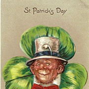 1907 Tucks St. Patrick�s Day Man in Top Hat Postcard