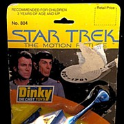 Star Trek 1979 Dinky Kling-On Cruiser with Card