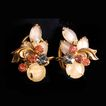 1950's Fruit Salad Opalescent Rhinestone Earrings