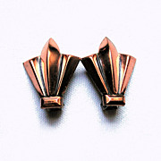 50's Renoir Copper Mid Century Clip Earrings