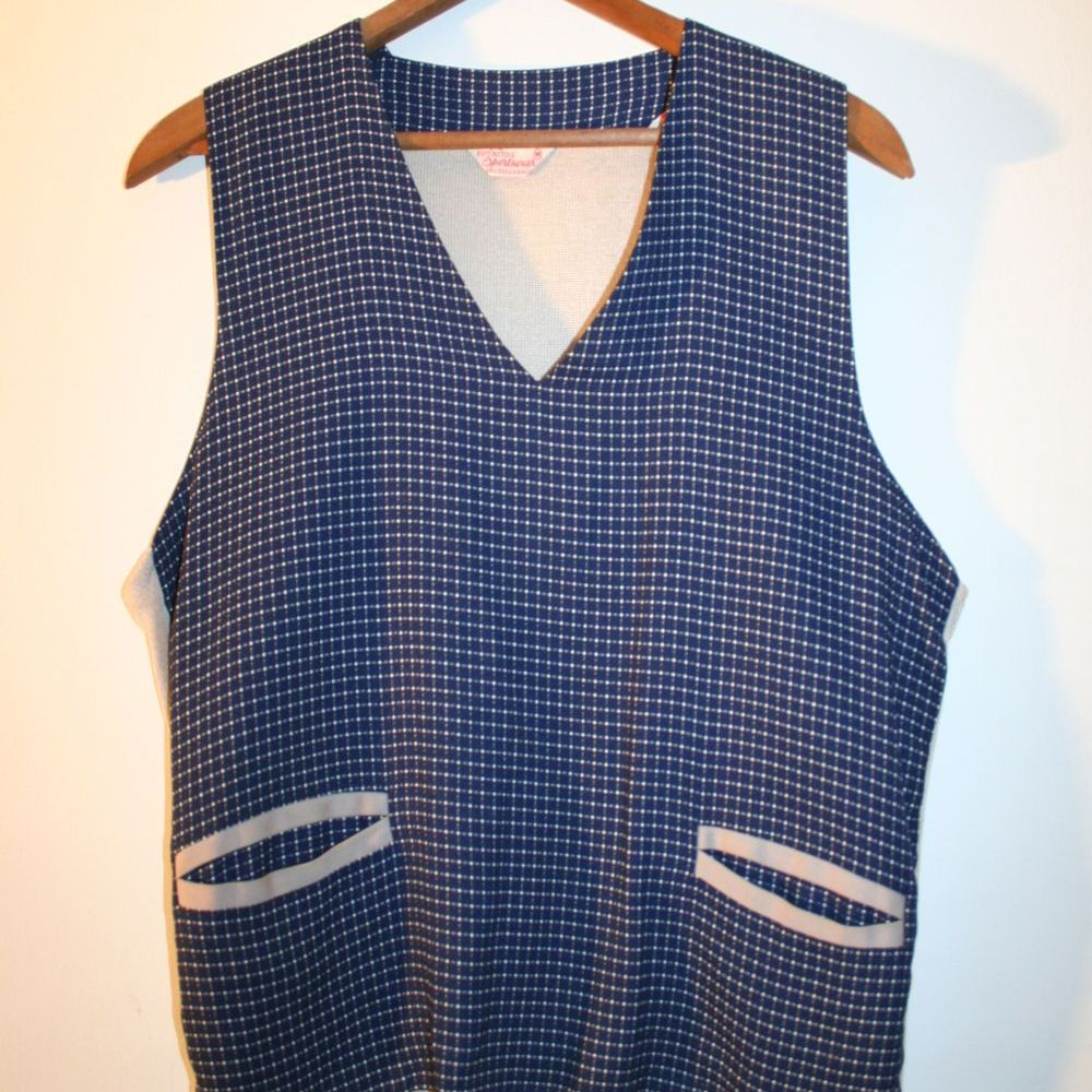 60s Men's Knit Pullover Rockabilly Vest M