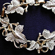 Vintage Sarah Coventry Gold Tone and Silver Tone Leaf Bracelet