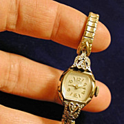 Vintage 50's Esquire 10K RGP Wrist Watch with 2 Diamonds