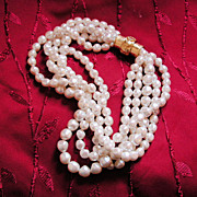 Massive 5 Strand Chunky Faux Pearl Necklace