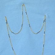 lovely 14K  gold chain with blue accents 11 grams 16""