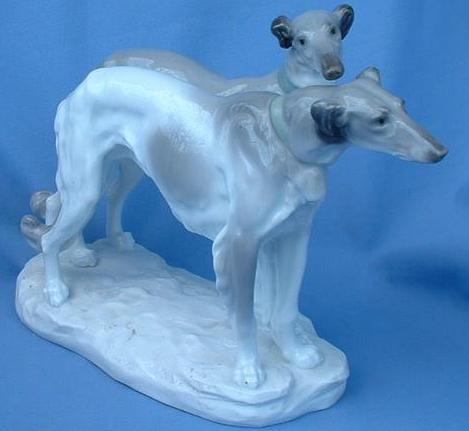 RARE antique 1900s ENS Germany Borzoi pr 11""