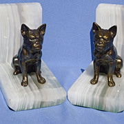vintage French bulldog bookends