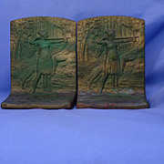 REDUCED art deco Judd bookends Borzoi & huntress  only