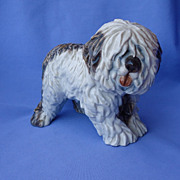 rare Old English sheepdog Cacciapuoti Italy 9&quot;