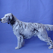 Royal Doulton English setter hunting dog 8&quot; HN 1050