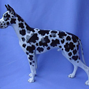 REDUCED fabulous huge harlequin Great Dane from Rosenthal Germany 12""