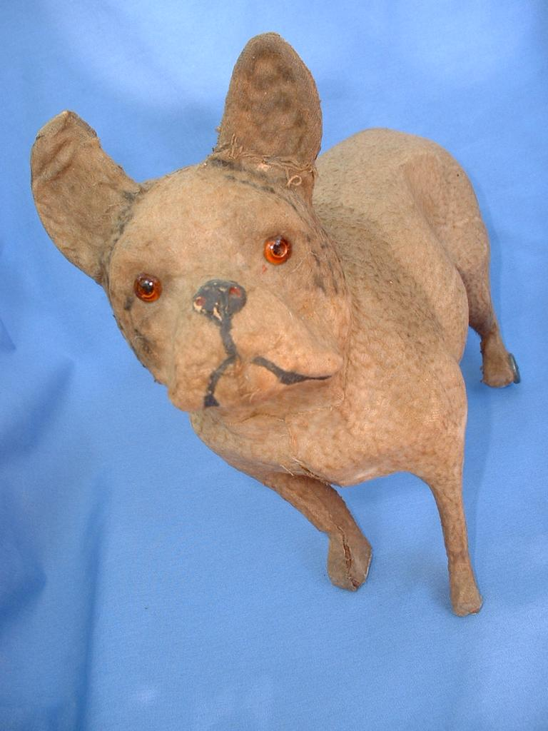 Victorian dog pull toy  large FRENCH BULLDOG German