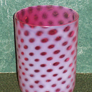 Cranberry Opalescent Windows Tumbler