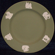 Set of 4 Wedgwood Jasperware Sage Green Plates