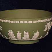 Wedgwood Jasperware Sage Green Center Bowl