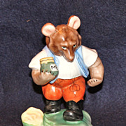 Herend Bear Figurine with Honey Pot