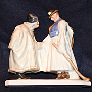 Herend Hand Painted Farewell Figurine #5506