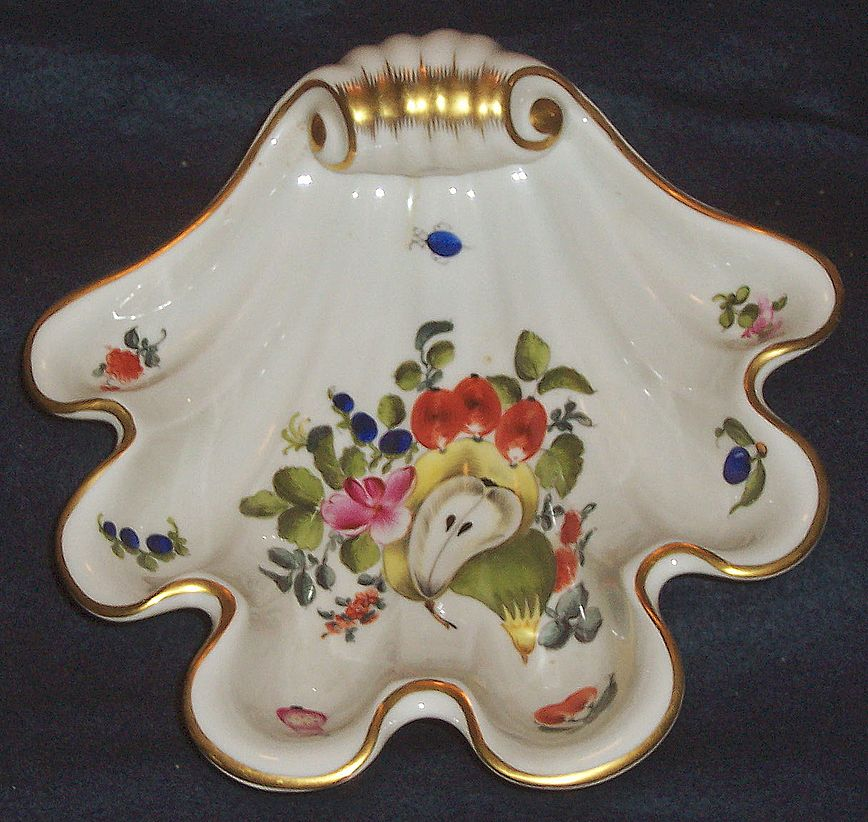 Herend Fruits and Flowers BFR Shell Shaped Dish