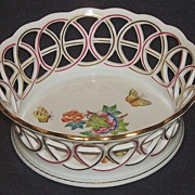 Herend Queen Victoria Basketweave Bowl