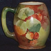 Hand Painted Lenox Belleek Mug with Strawberries