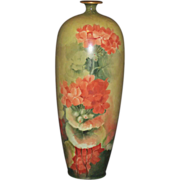 "CAC Lenox Belleek Hand Painted 11 1/2"" Vase"